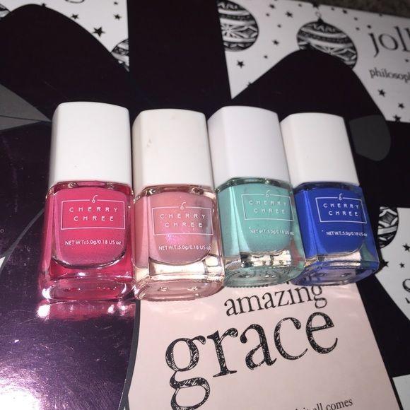 Cherry Chree Mini Nail Polishes Set Two Pinks One Hot Pink