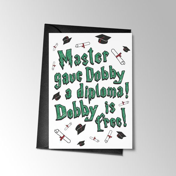 Funny Printable Graduation Card, Funny Graduation Card, Harry Potter