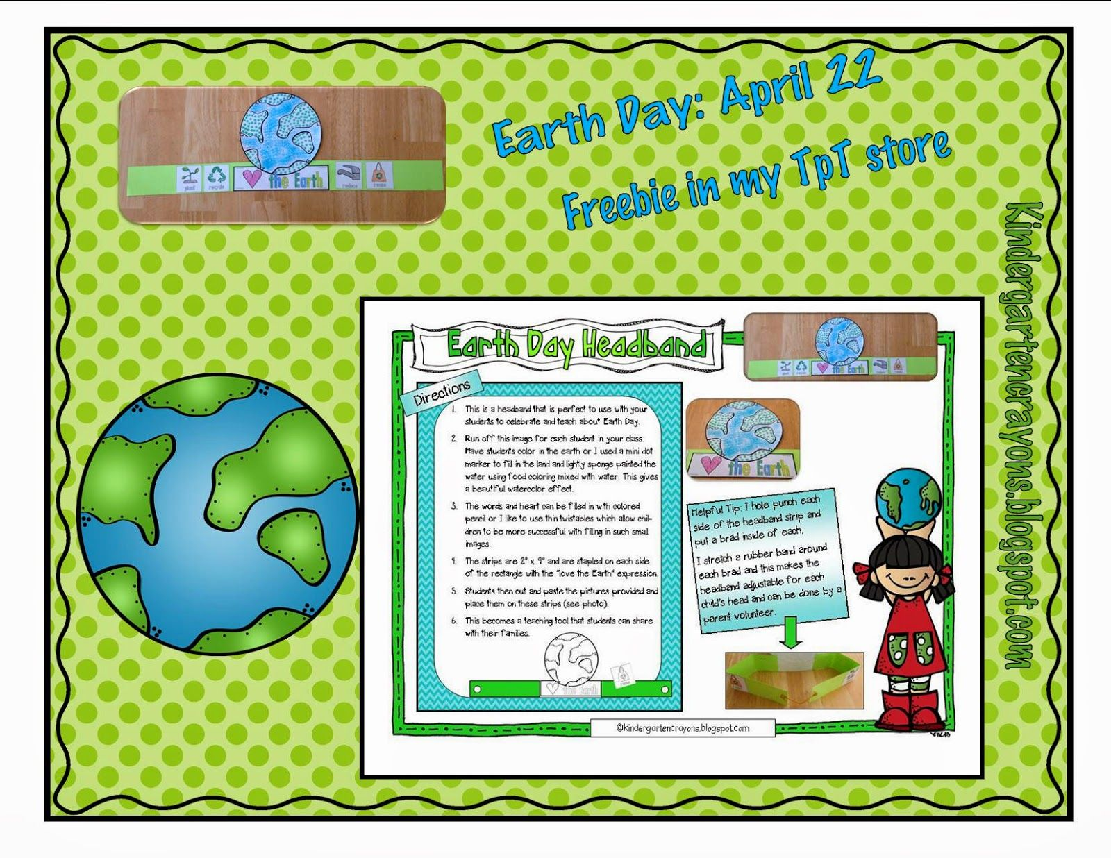 Finally A Freebie Celebrate Earth Day With Your Kindergarten