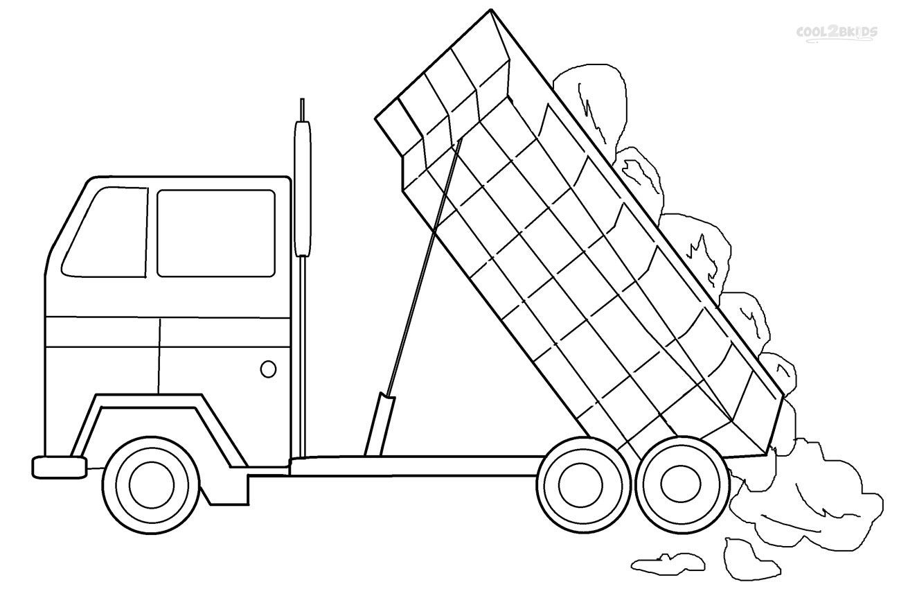 Printable Dump Truck Coloring Pages For Kids Cool2bkids Truck Coloring Pages Coloring Pages For Kids Coloring Pages
