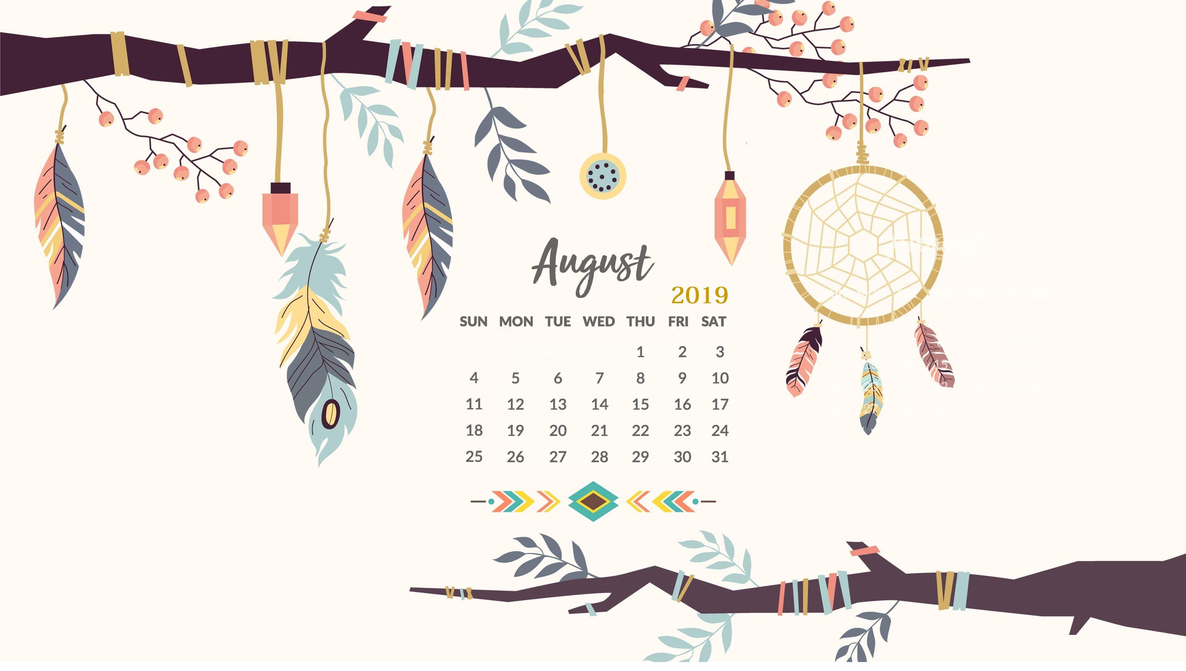 August 2019 Hd Calendar Wallpaper Wall Calendar In 2019