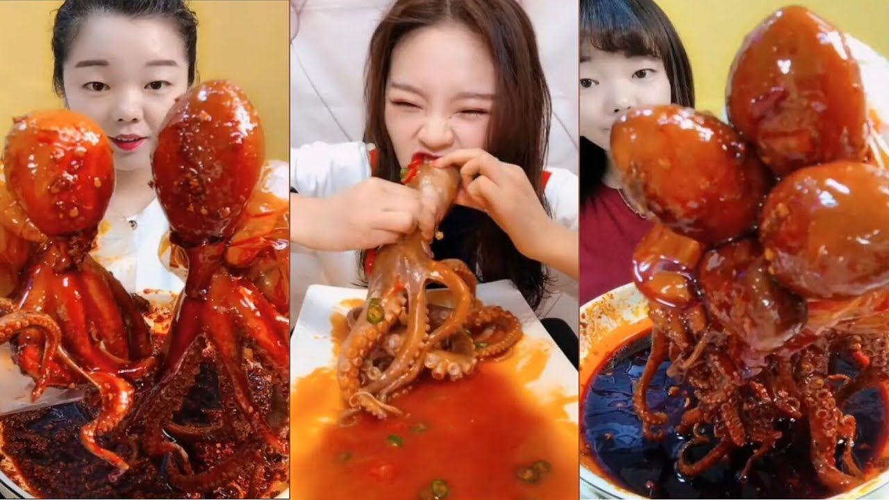 Octopus Challenge China Mukbang Asmr Spicy Octopus Eating Show