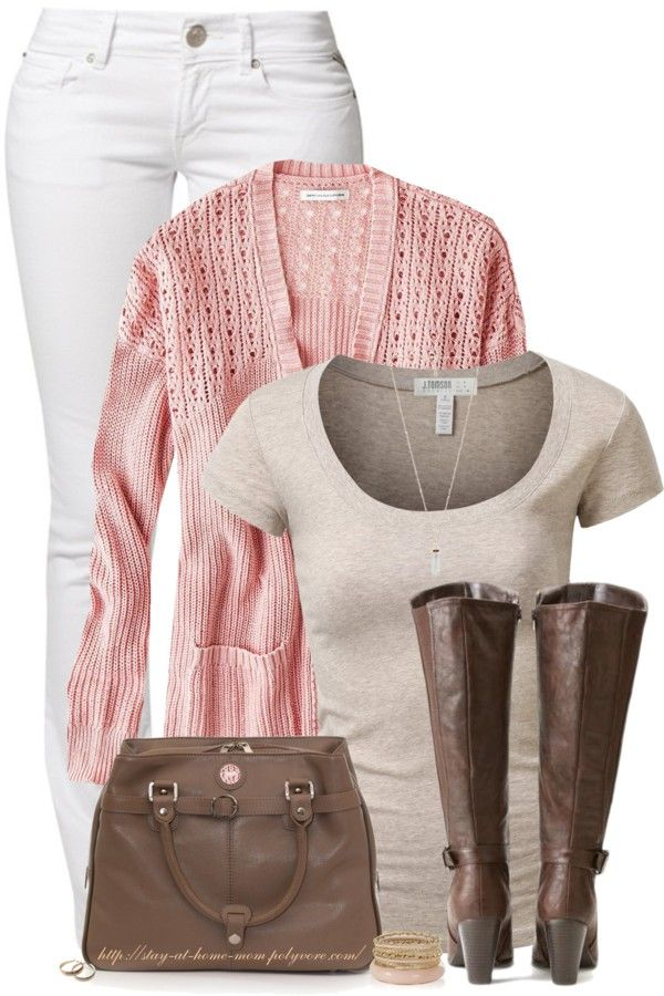 Lovely Pink And Brown Casual Spring Outfit Spring Outfits Casual Fashion Clothes