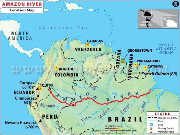 Amazon River Travel Information - Map, Facts, Location, Best time to - copy interactive world map amazon