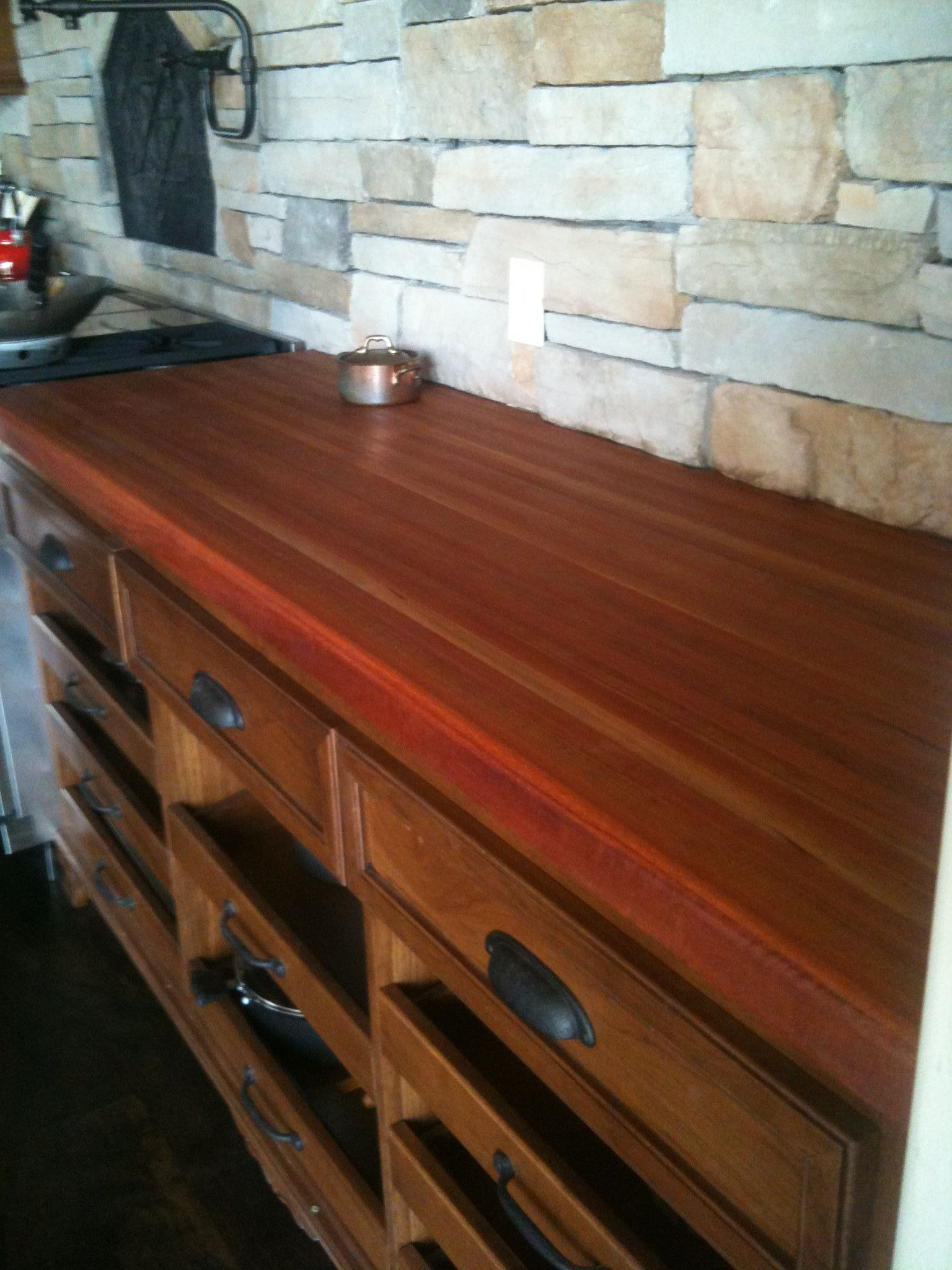 Lyptus And American Black Cherry Butcher Block Countertop By A R T T Wood Manufacturing In Oklahoma City Will S Butcher Block Countertops Butcher Block Wood