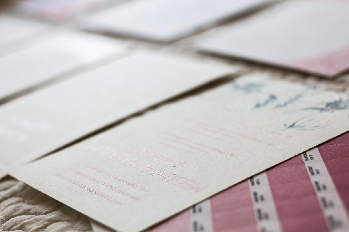 Matte Coat Printing for Wedding Invitations