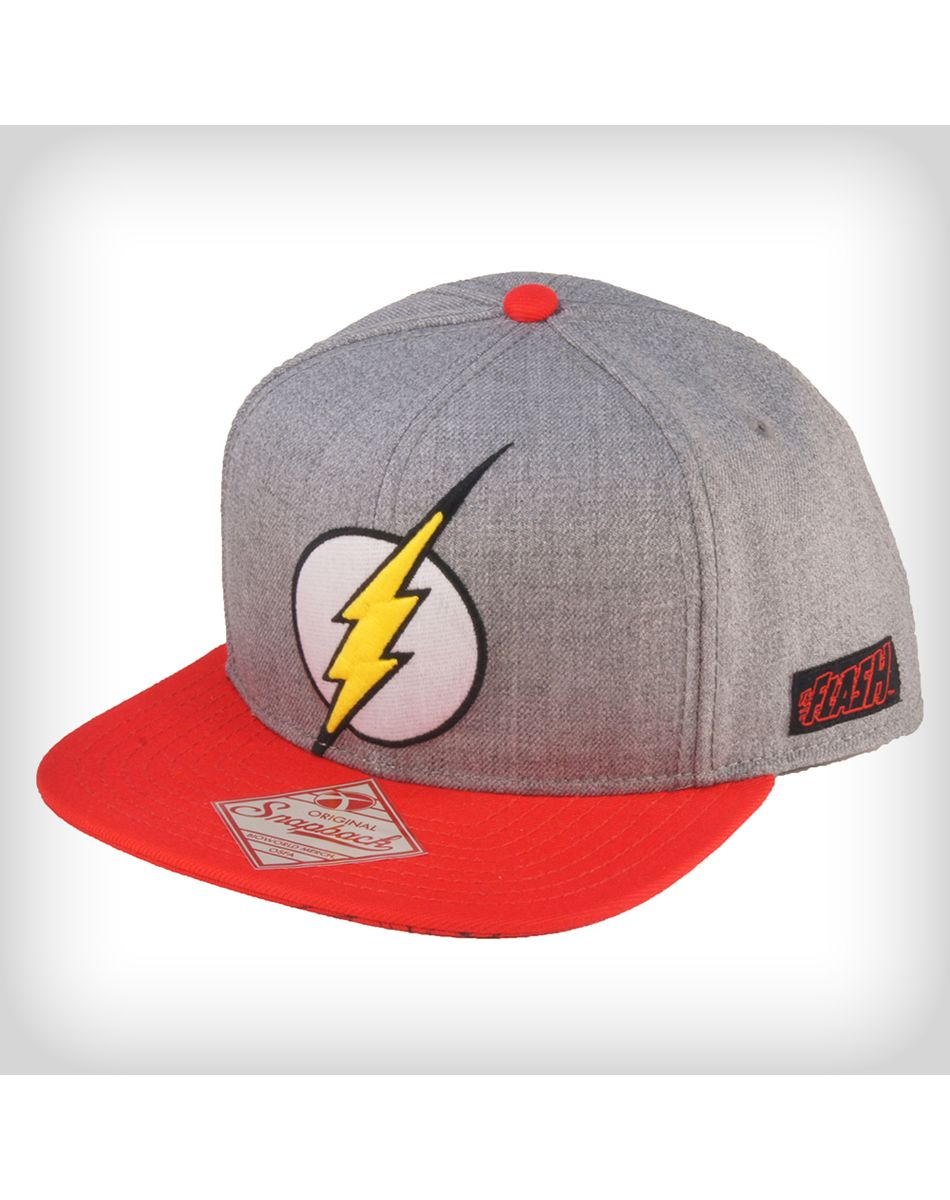 newest collection a3df2 67c90 DC Comics Original Flash Logo Snapback Hat Superhero Rings, Original Flash, Head  Clothing,