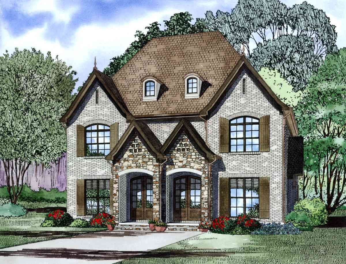 Plan 60621nd French Country Duplex In 2021 Family House Plans Duplex Plans Duplex Floor Plans