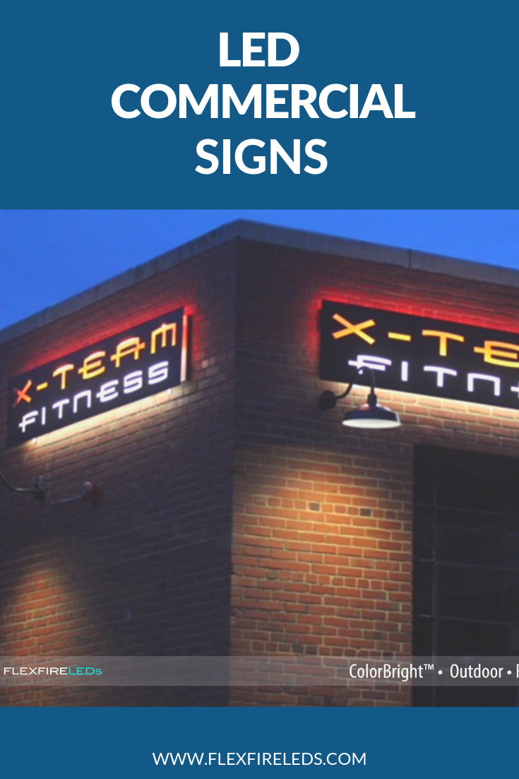 Let People Know That You Re Open For Business By Incorporating Led Strips Into Your Sign Or Logo We Have Water Resistant Are Perfect