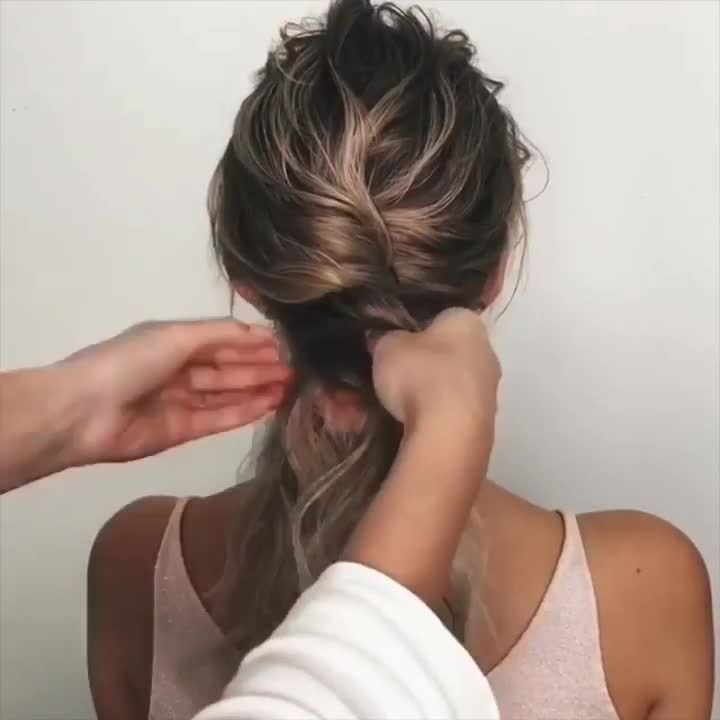 Cosmo Prof Beauty on Instagram A quick and easy formal hairstyle by sashaesenina   Product used tigiprofessionals Screw It Curl Hydrating Jelly   Cosmo Prof Beauty on Ins...