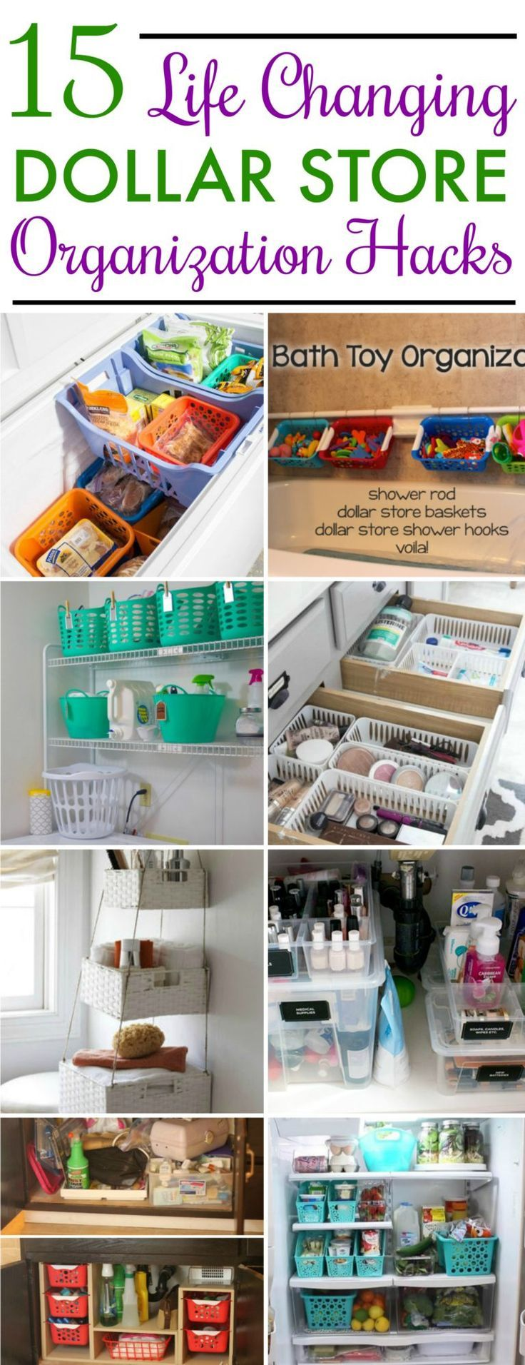 15 Dollar Store Organization Ideas For Every Area In Your Home Dollar Store Organizing Store Organization Dollar Stores