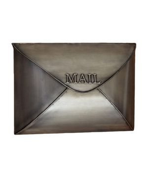 6 Decorative Mailboxes Metal Mailbox Wall Mount Mailbox Vintage Brass