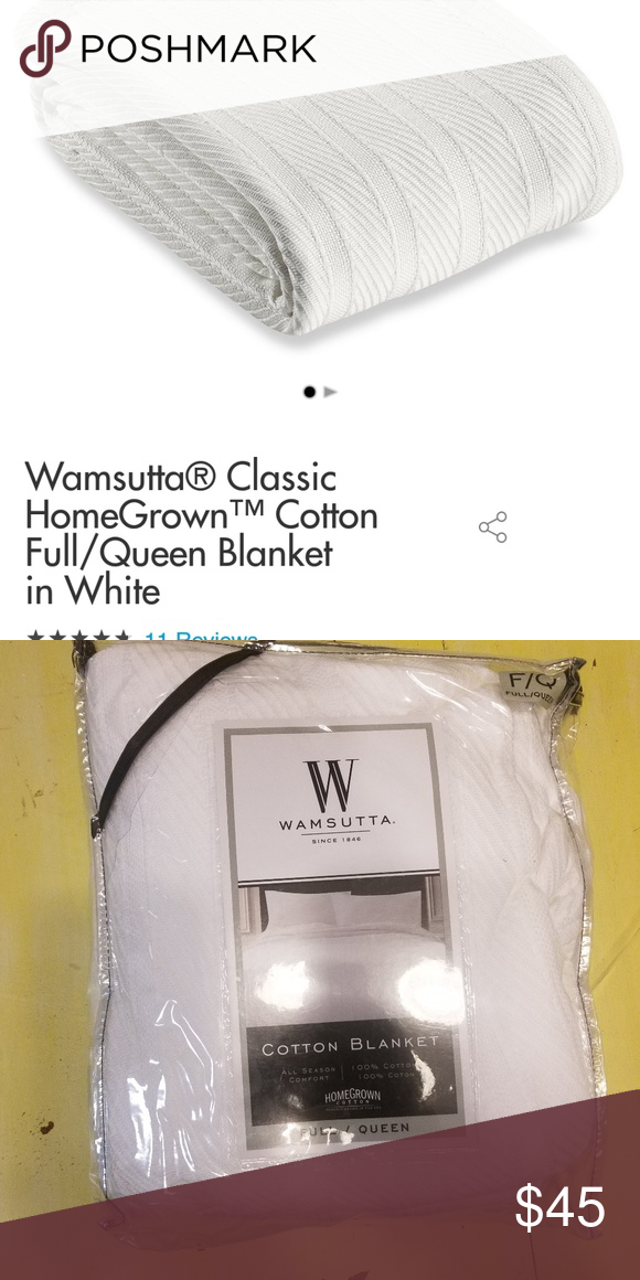 Wamsutta queen cotton blanket Brand new Other  72a846a1c
