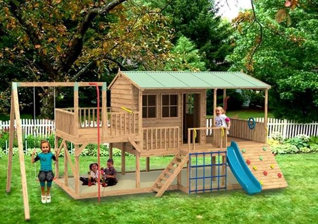 The Panda Pak Cubby House From Cubbykraft Enter Our Competition To Win 200 By Posting A Picture Of Your Favourite C Playset Outdoor Cubby Houses Outdoor Kids