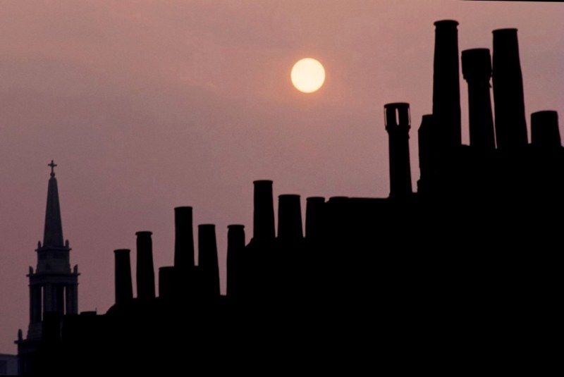 Chimney Pots Waterloo London 1969 London Skyline