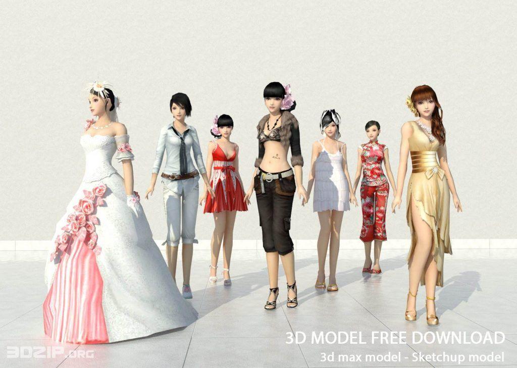 3d People Model 3 Free Download Model People