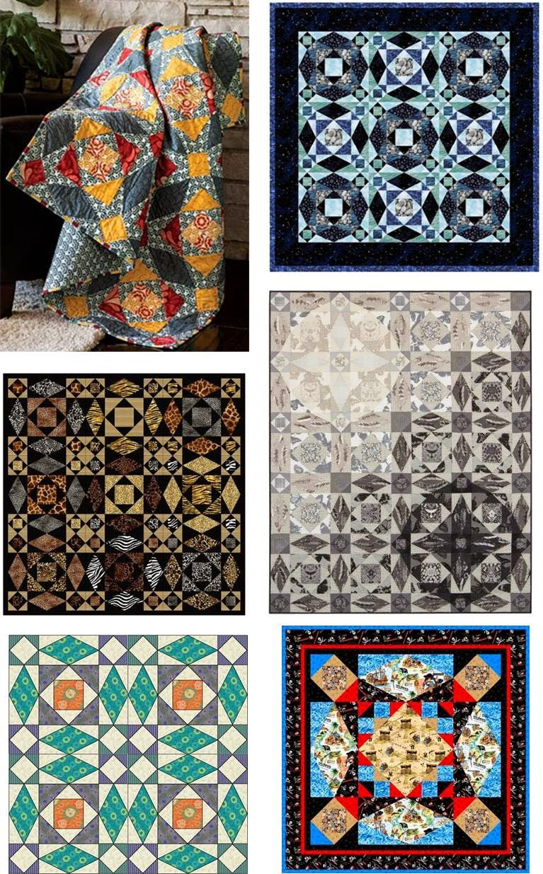 Storm-at-Sea Quilts, free block diagrams and patterns. Updated November 2014 at Quilt Inspiration.