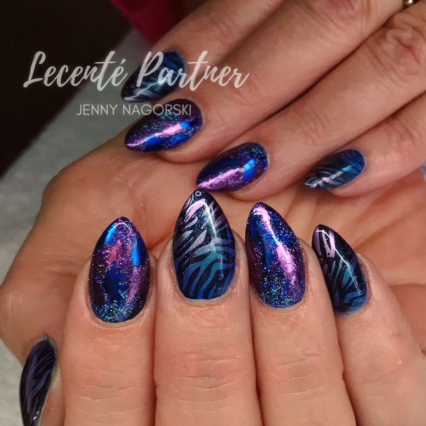 Cnd Shellac With Lecente Foils Glitter And Yours Loves Sascha