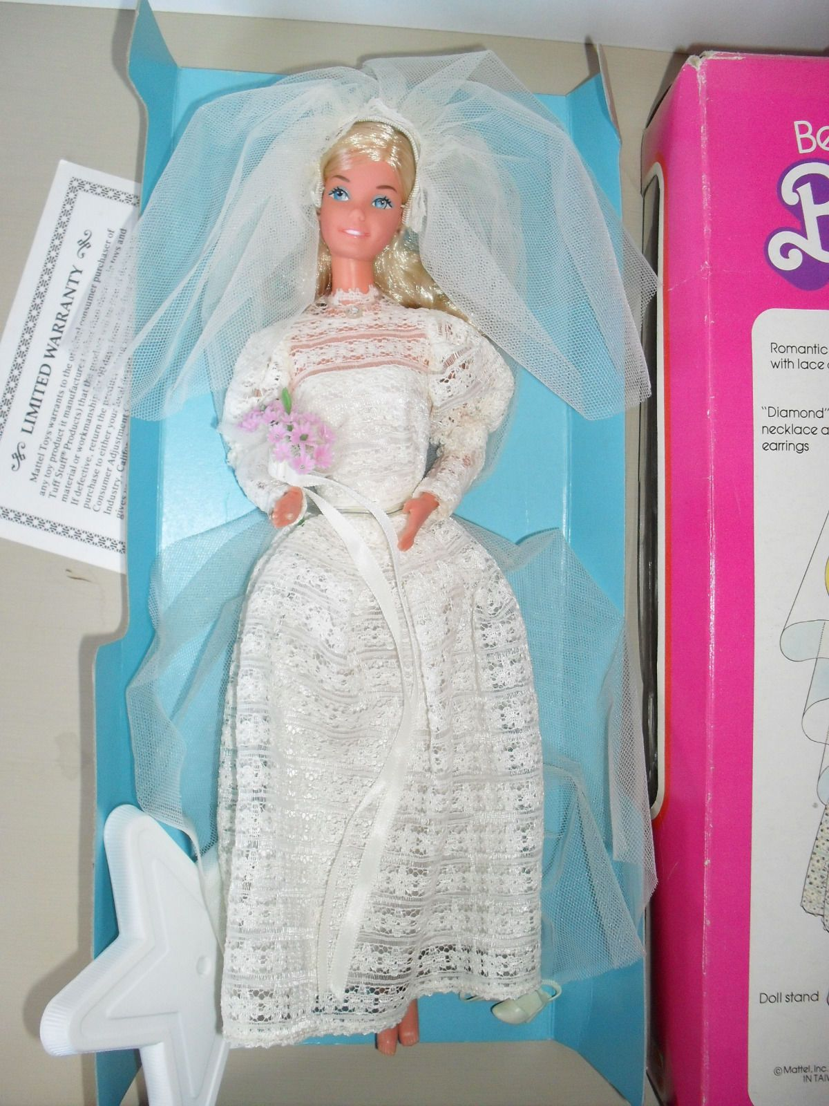 Barbie Doll Superstar Beautiful Bride 1976 Boxed Wedding