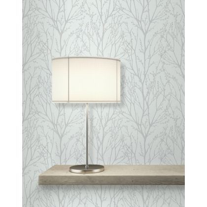 Fine decor delamere wallpaper blue and silver at for Living room ideas homebase