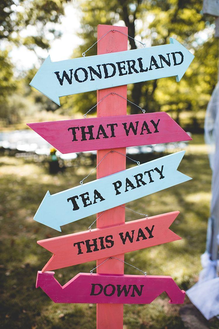 Alice in Wonderland Wedding in Pennsylvania   Crafts   Pinterest ...