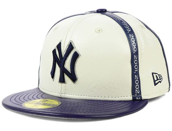 Leather Dj Collection New York Yankees 59fifty Fitted Cap By New Era X Mlb Hats For Men Fitted Caps Cap
