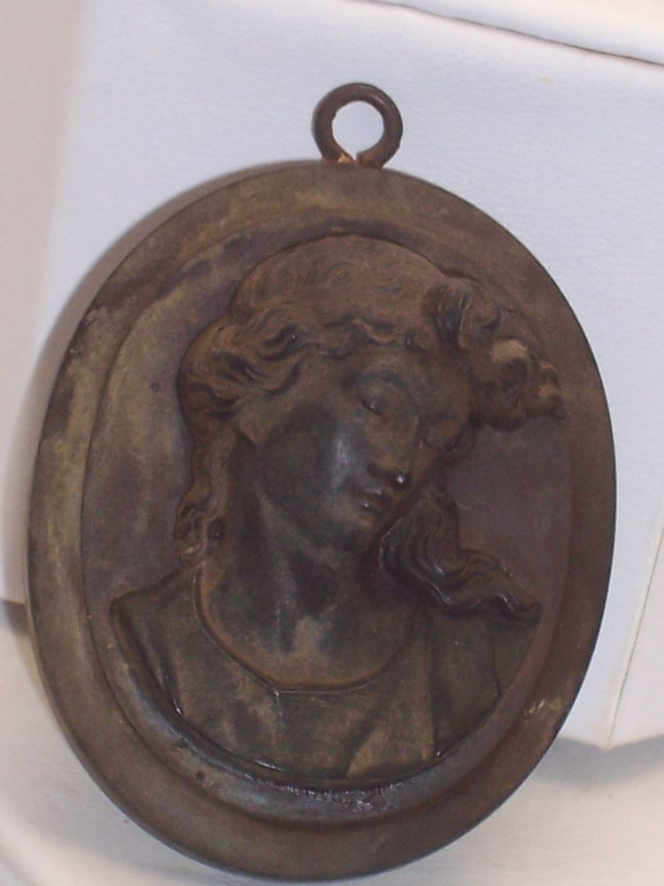 Victorian GUTTA PERCHA ? Raised Relief Design Beautiful Face in Jewelry & Watches, Vintage & Antique Jewelry, Costume   eBay