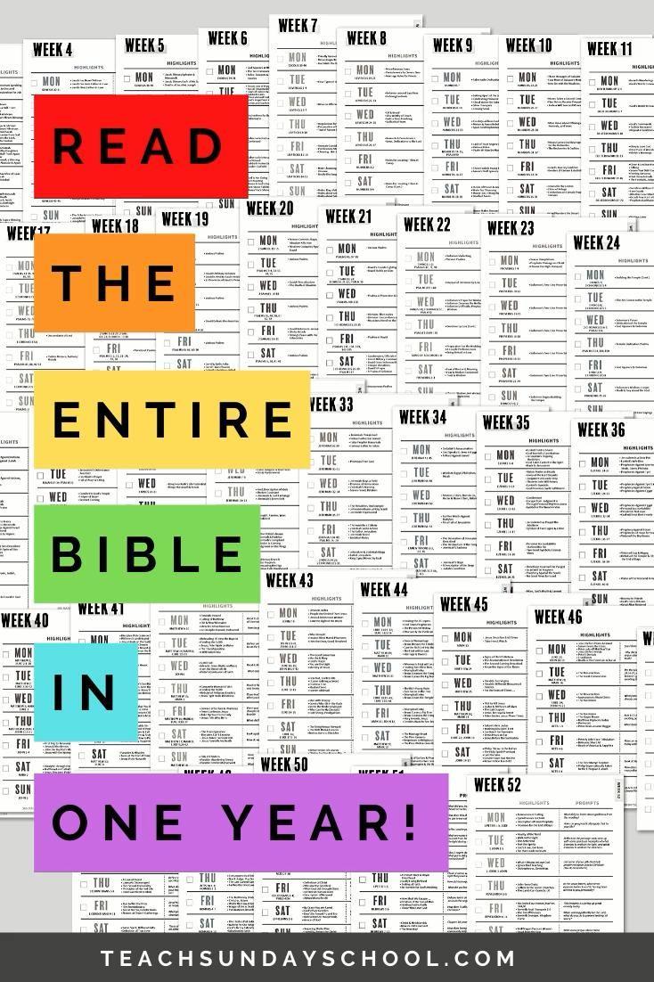 Bible Reading Plan One Year