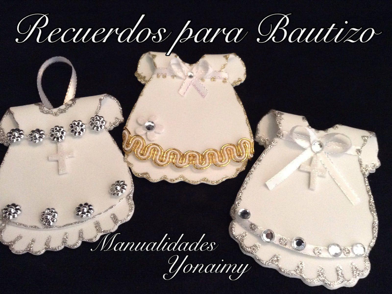 VESTIDITO PARA RECUERDOS DE BAUTIZO Y/O PRIMERA COMUNION HECHOS ...