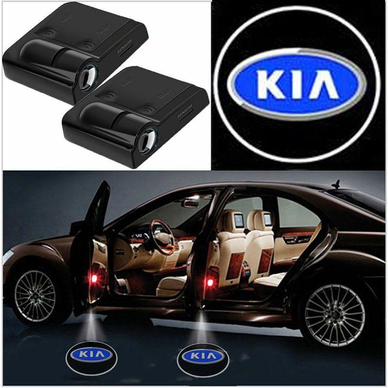 2 Pcs Wireless Led Car Logo Door Light Welcome Ghost Lights For Kia Unbranded Ghost Lights Led Logo Car Logos