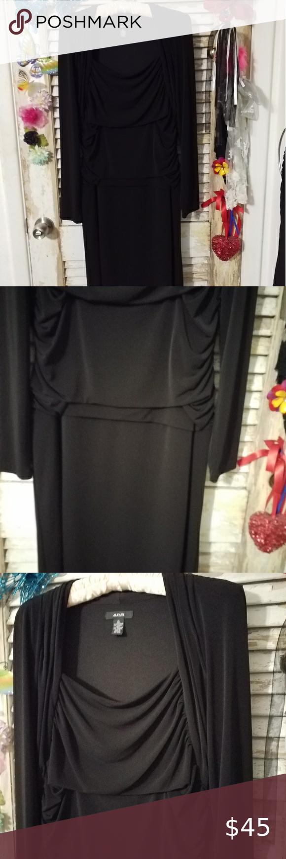Alfani Xl Black Dress In 2020 Alfani Dress Black Dress Clothes Design [ 1740 x 580 Pixel ]