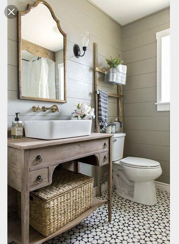 Rustic Custom Vanity Bathroom, Powder Room Heather