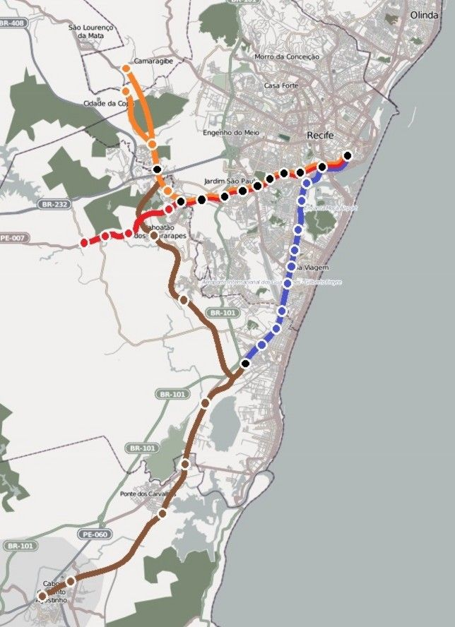 nice Recife Metro Map Travelquaz Pinterest Recife and Maps 2016