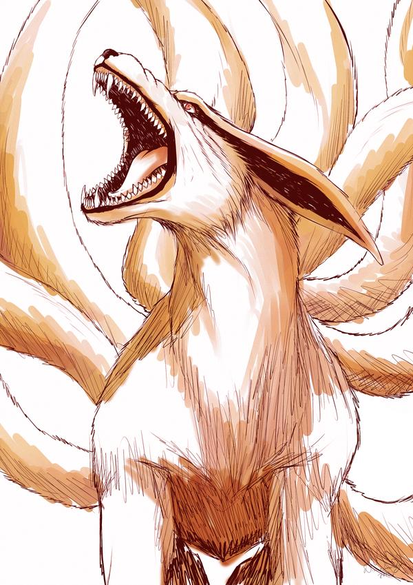Kurama Sketch Naruto By Divineimmortality On Deviantart Naruto