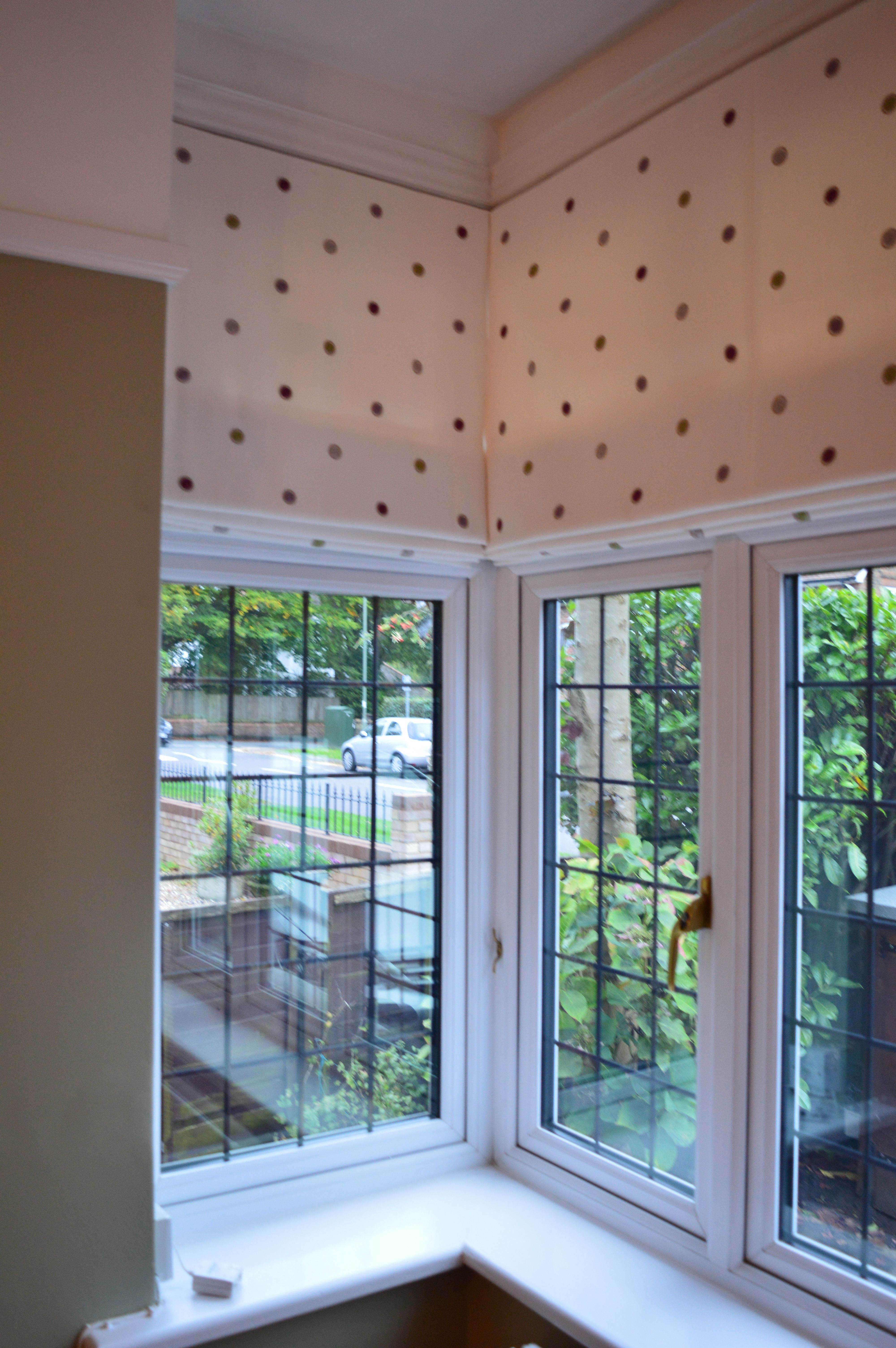 Bedroom Blinds Ideas Set Property clarke & clarke embroidered spot fabric on 3 roman blinds in a