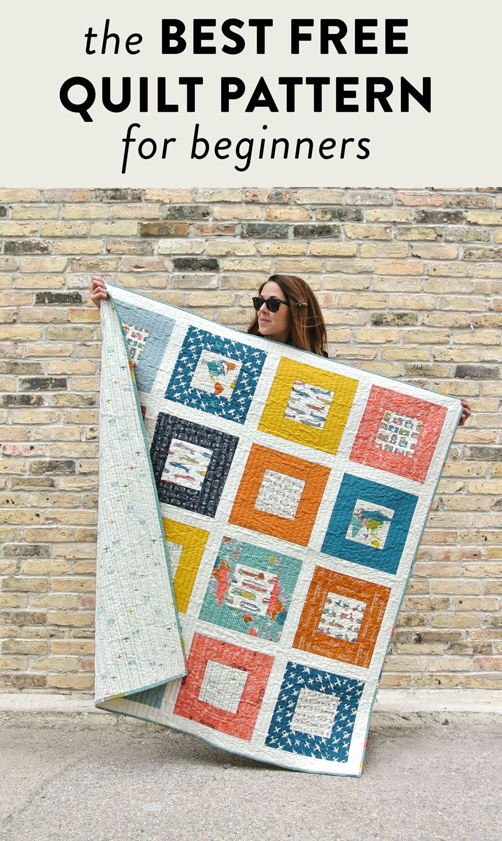The Best Free Quilt Pattern For Beginners Make A Memory Quilt With This Step By Step Tutorial Great Patte Beginner Quilt Patterns Quilt Patterns Memory Quilt
