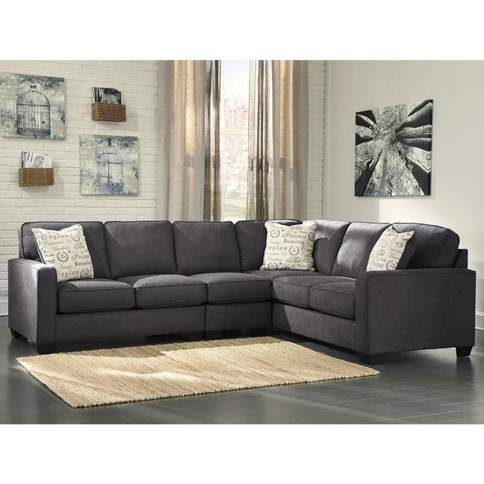 Alenya 3-Piece Sectional in Charcoal | Nebraska Furniture Mart  sc 1 st  Pinterest : nebraska furniture mart sectional sofas - Sectionals, Sofas & Couches
