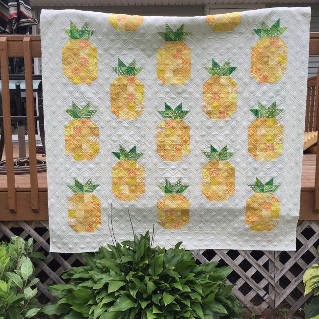 Listen Learn Sew With Pat Free Pattern Pineapple Quilt Pattern Pineapple Quilt Quilts