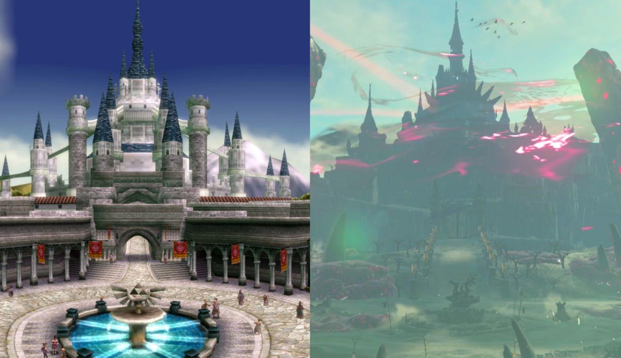 Hyrule Castle In Twilight Princess Hyrule Castle In Breath Of The Wild Legend Of Zelda Breath Of The Wild Twilight Princess