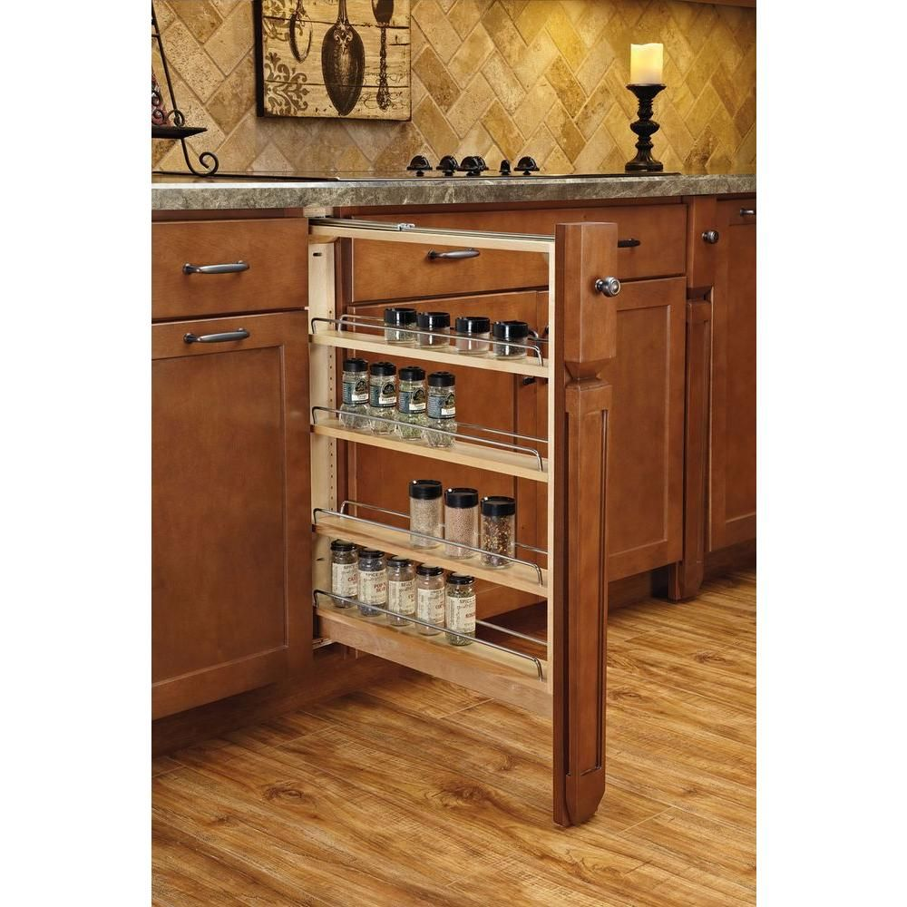 Rev A Shelf 30 In H X 6 In W X 23 In D Pull Out Between Cabinet Base Filler With Ball Bearing Soft Close Slides 432 Bfbbsc 6c The Home Depot Kitchen Cabinet Remodel Kitchen Base Cabinets