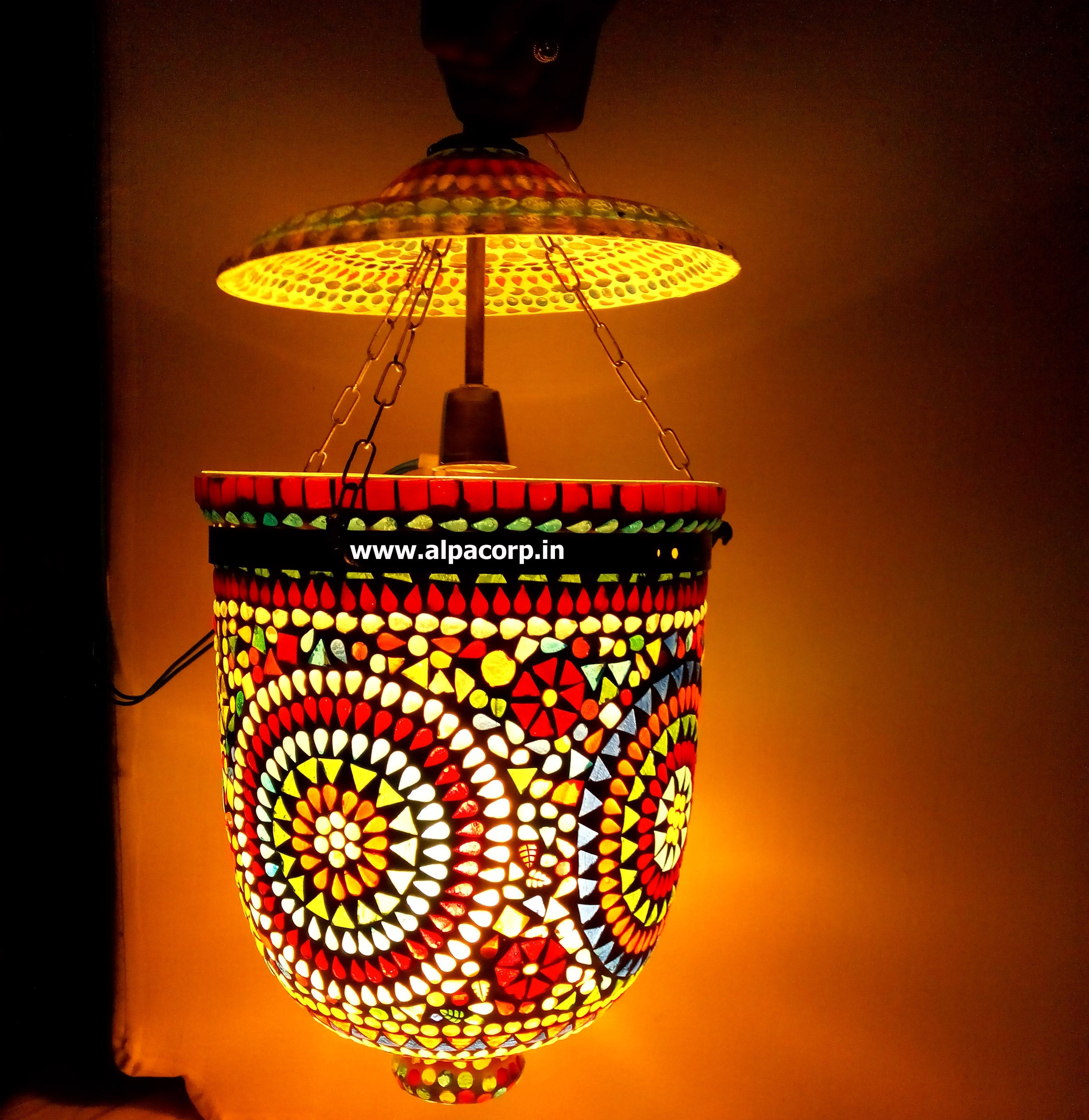 Night lamps india - Hand Art On Glass Lamp Handicraft Lamp From India By Alpa Corp Www