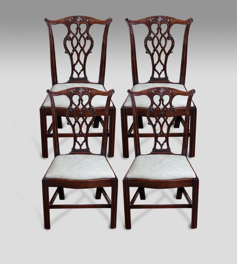 Set of 4 antique dining chairs | Dining chair set, Dining chairs and ...