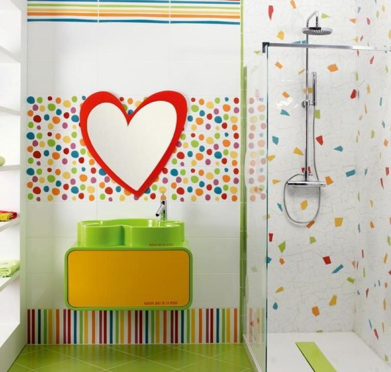 Heart Love Frame Mirror For Kids Bathroom Decor