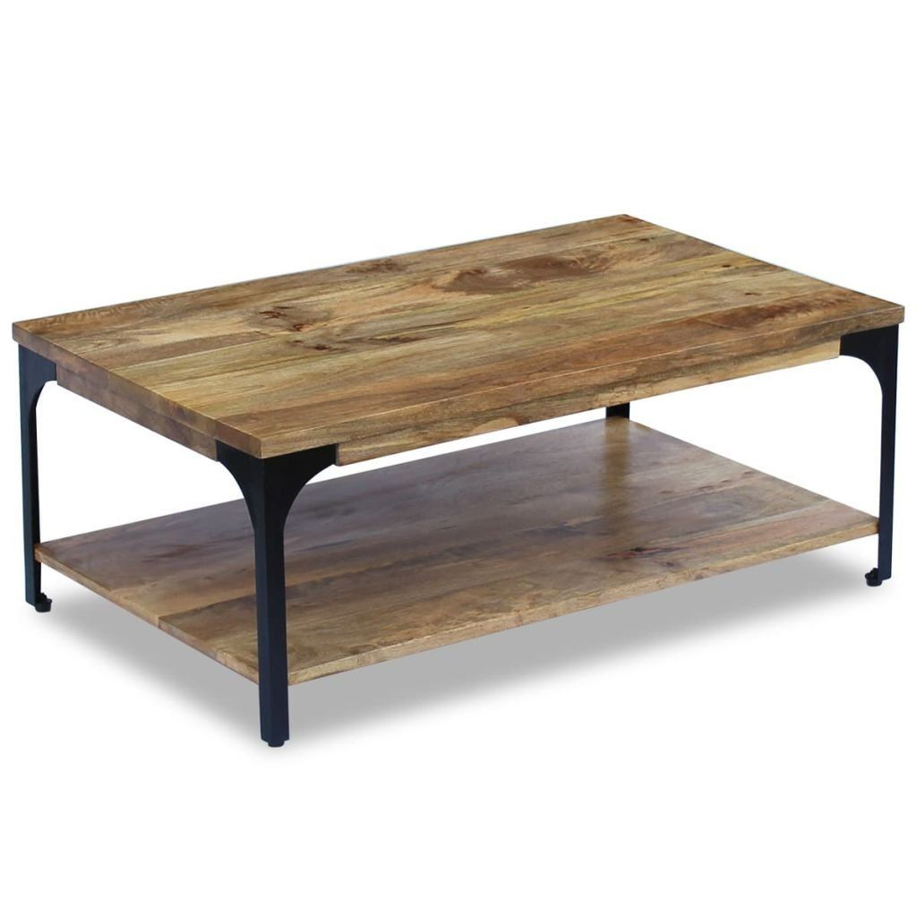 Incroyable VidaXL Table Basse Pour Salon Table Du0027appoint Bois De Manguier 100 X 60 X