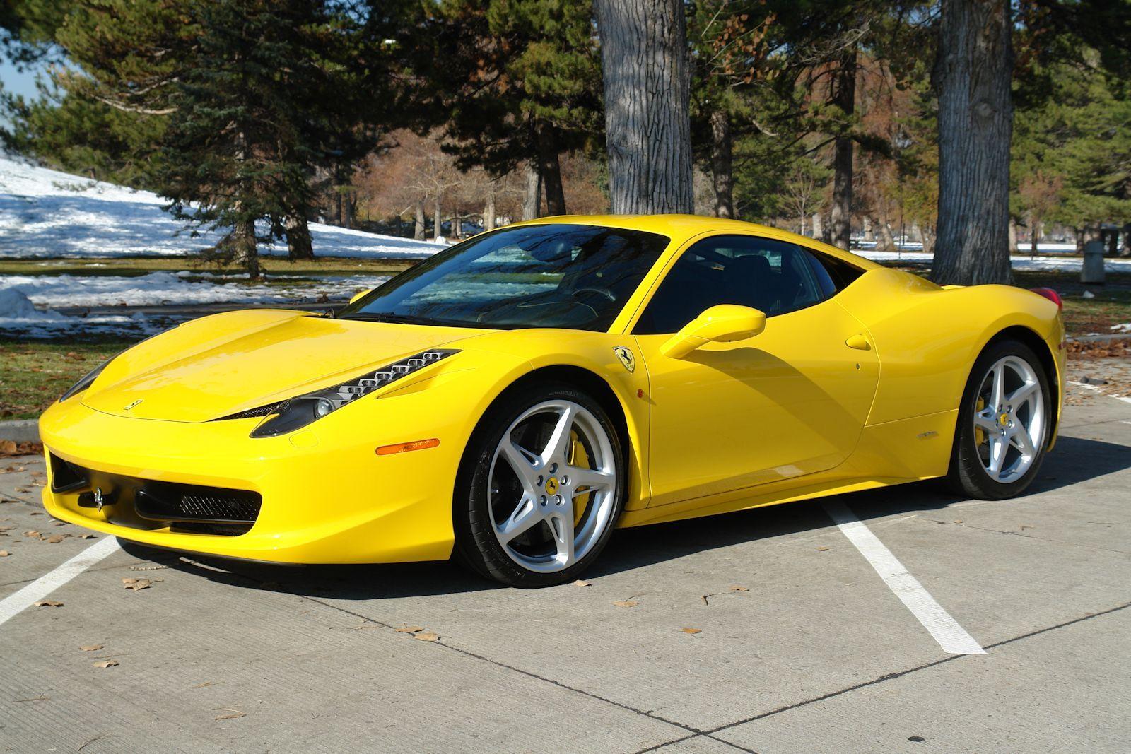 Ferrari 458 Italia, coupe, yellow car, side, wallpapers ...