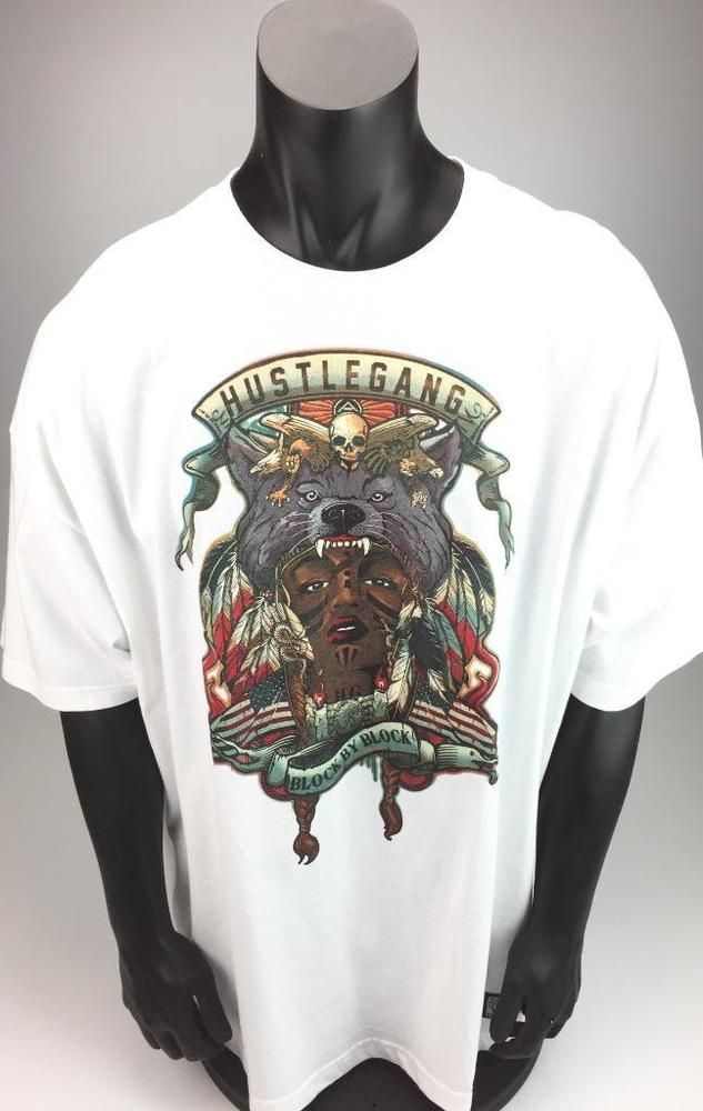 0608db90 Hustle Gang Block by Block Thousands Tee size 3X white NEW with tags ...