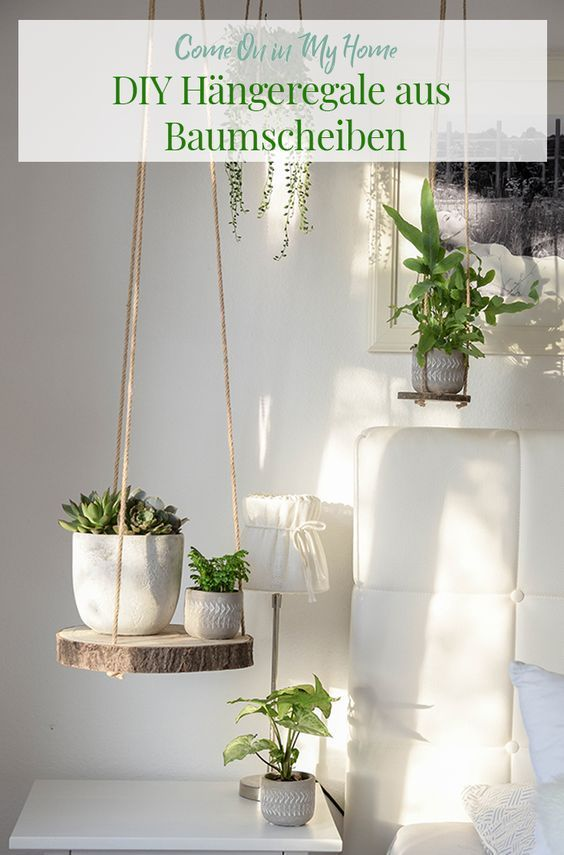DIY Hängeregale – hole dir deinen Urban Jungle ins Haus – Home and Herbs – Quotes İdeas