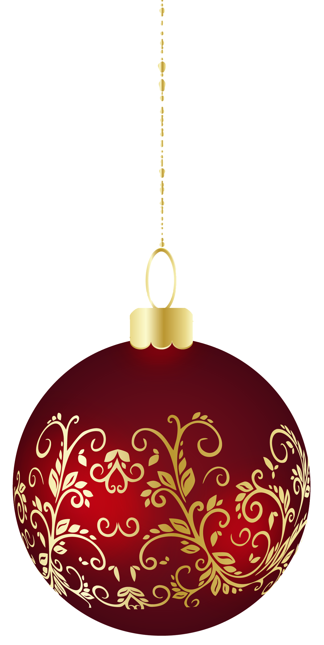Large transparent christmas ball ornament png clipart for Hanging christmas decorations