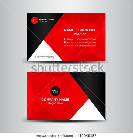 Vector modern creative and clean business card templatered polygon vector modern creative and clean business card templatered polygon backgroundflyer design reheart Gallery