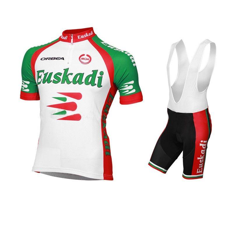 cbcc8057c 2013 Euskaltel-Euskadi Pro Team Short Sleeve Cycling Jersey with Bib Shorts
